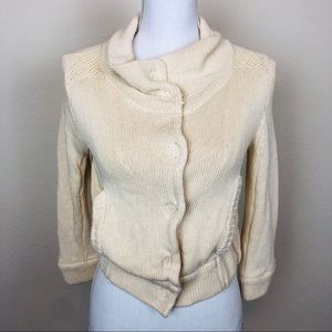 Free People Button Down Sweater Jacket Size Small